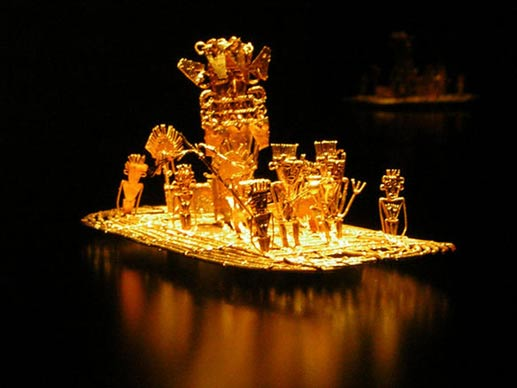 The golden Muisca raft