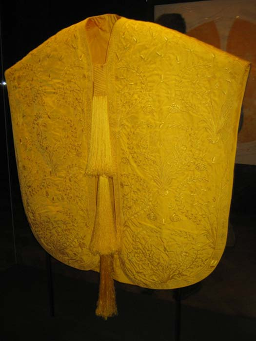 The golden spider-silk cape.