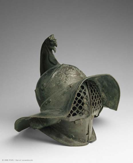 The helmet of a Thracian gladiator, the Louvre. (Image: © RMN, Musée du Louvre)
