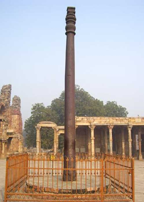 The iron Ashoka pillar.