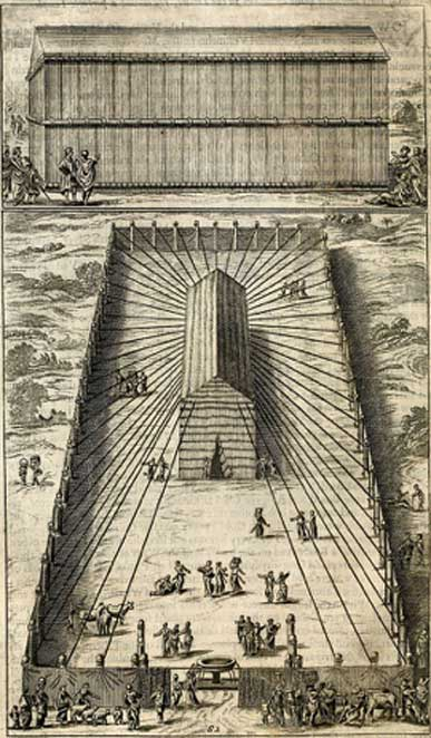 The original tabernacle was a tent erected by Moses. (Fæ / Public Domain)
