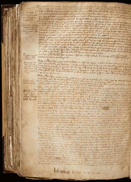 The register that details the story of Joan of Leeds. (York Archbishops' Register)