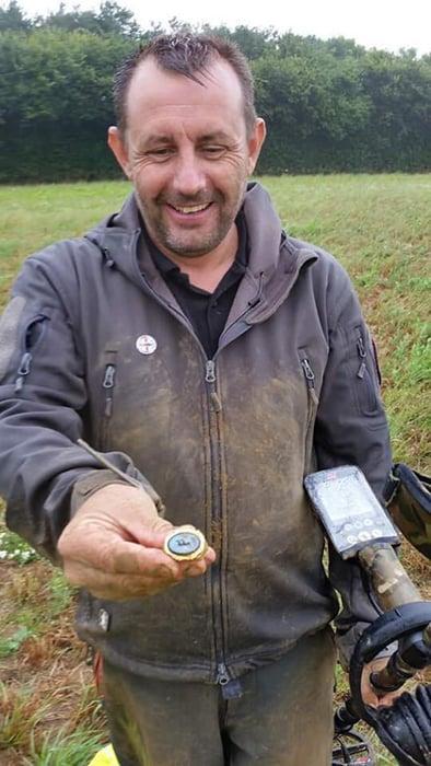 The ring was found by amateur metal detectorist, Jason Massey. (Image: Jason Massey)