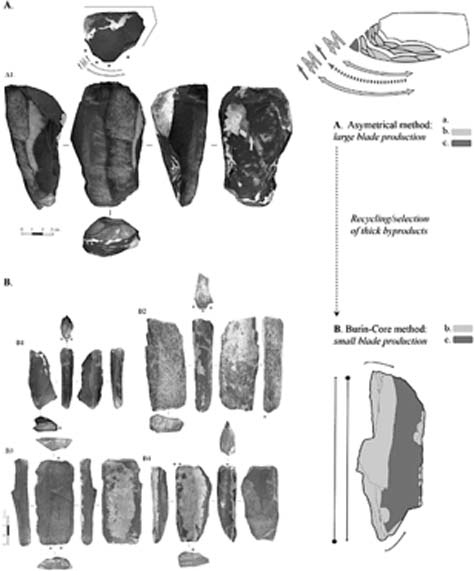 The stone tools are similar to those found at other sites in Siberia and Northwest China. (Zwyns et al / Fair Use)