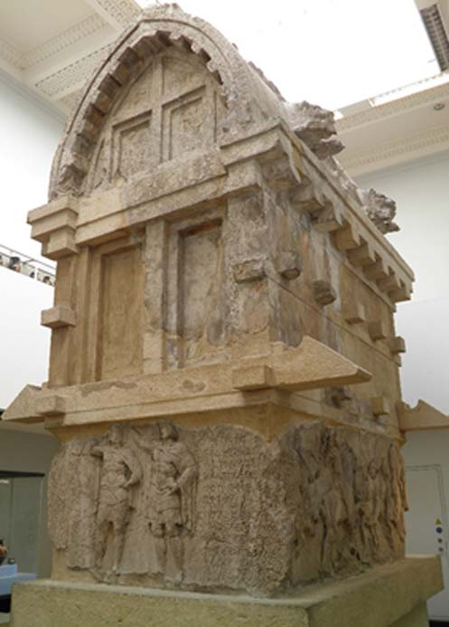 The tomb of Payava, a Lykian aristocrat, about 375-360 BC, from Xanthos, British Museum.