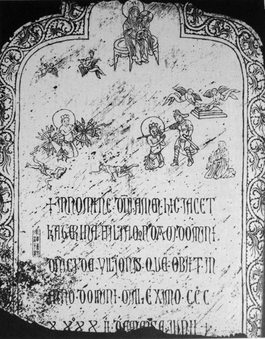 The tombstone of Katerina Ilioni, daughter of the Genoese merchant Domenico Ilioni, dated to 1342 and found at Yangzhou, China. (Public Domain)