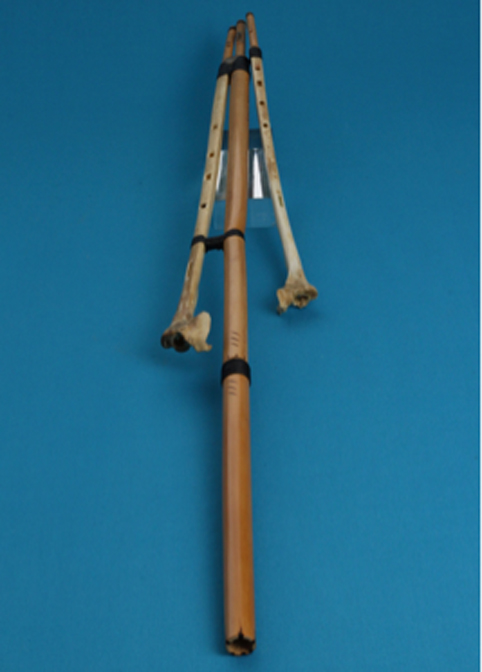 The use of launeddas, one of the oldest and most extraordinary musical instruments of the Mediterranean, is attested for a time span ranging from prehistory to the present day. This is a specimen of launeddas made in 1981 by Master Orlando Maxia with the bones of a flamingo found dead. (Author Supplied / Paolo Lussu © Museo Sardo di Antropologia ed Etnografia dell'Università degli Studi di Cagliari)