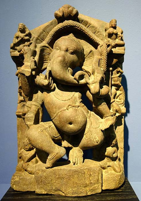 This soapstone carving of Lord Ganesha was created in India between 900-1000 AD. Fitchburg Art Museum. (Public Domain)