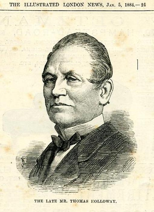 Thomas Holloway, 19th century philanthropist.