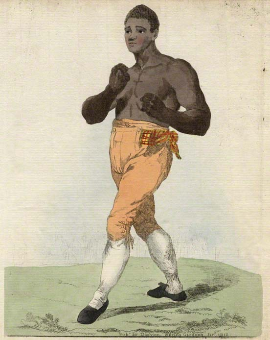 Thomas Molineaux (1784 – 4 August 1818) was a famous African-American bare-knuckle boxer and former slave who won many fights in Britain and Ireland. (Public Domain)