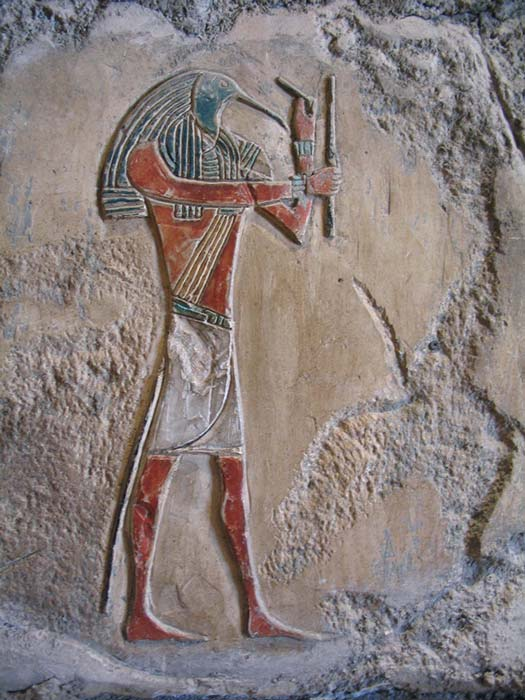Thoth. God of writing, knowledge and, it would seem, eye doctors. (CC BY-NC-SA 2.0)