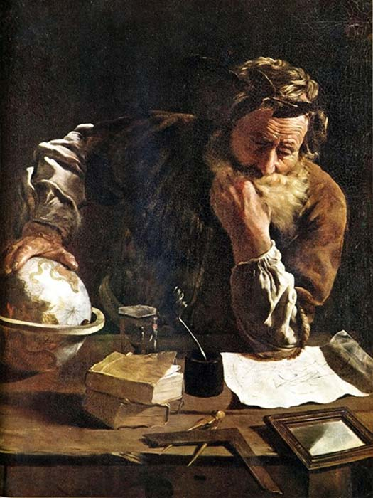 Thoughtful Archimedes by Domenico Fetti  (1620) (Public Domain)