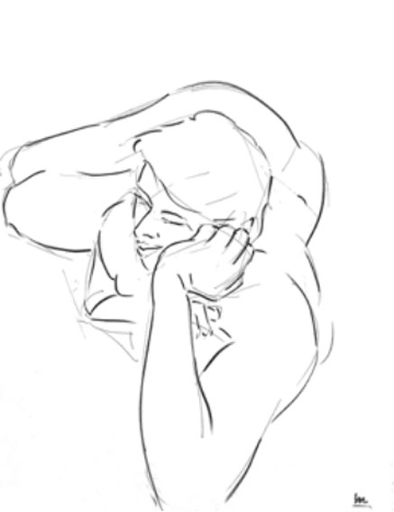 Three minute drawing (with practice) (Drawing by Xavier Bolot)
