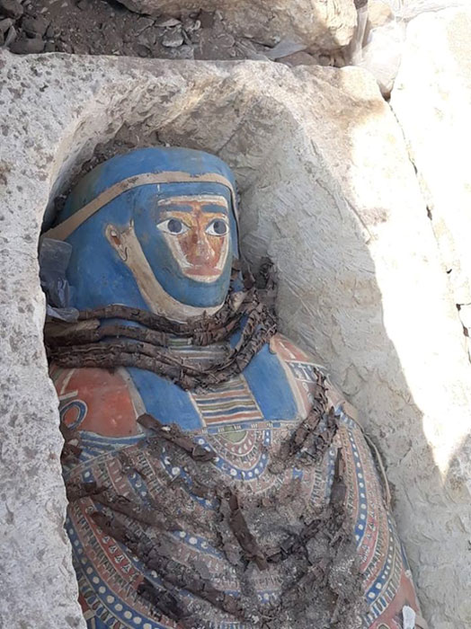 Three of the eight sarcophagi are said to be well-preserved. (Ministry of Antiquities)