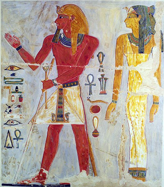 Thutmose I, as portrayed in Hatshepsut's temple at Deir el-Bahri.