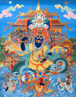 Tibetan Buddhist depiction of a naga
