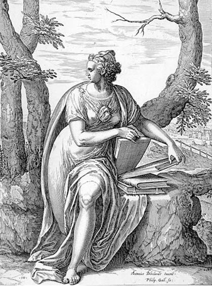 Tiburtine Sibyl Montfoort engraving (1575) by Philip Galle.