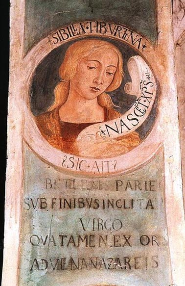 The Tiburtine Sibyl, 1483. Fresco in Church of St. John the Evangelist in Tivoli, Italy.