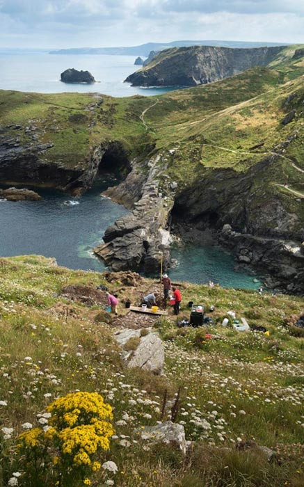 Excavations at Tintagel Castle.