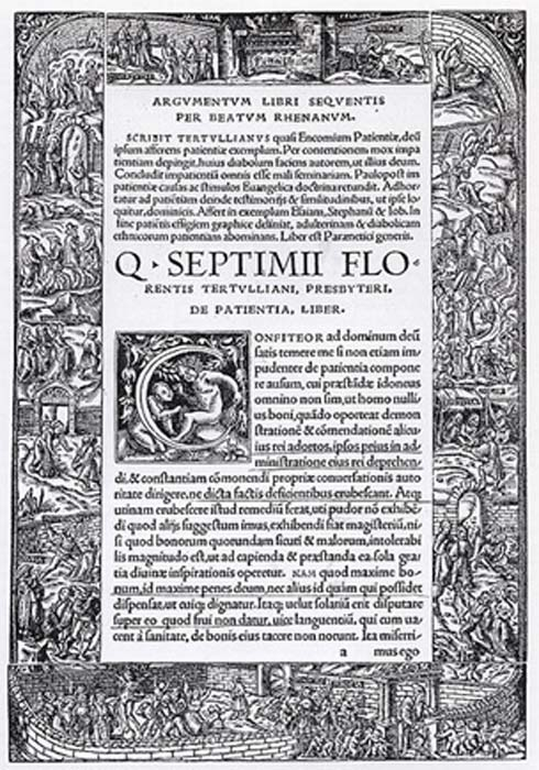 Title Page with the Tabula Cebetis, the so-called Cebes Tablet A. Metalcut by Hans Holbein the Younger, 1521. (Public Domain)