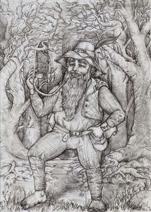 A drawing of Tom Bombadil.