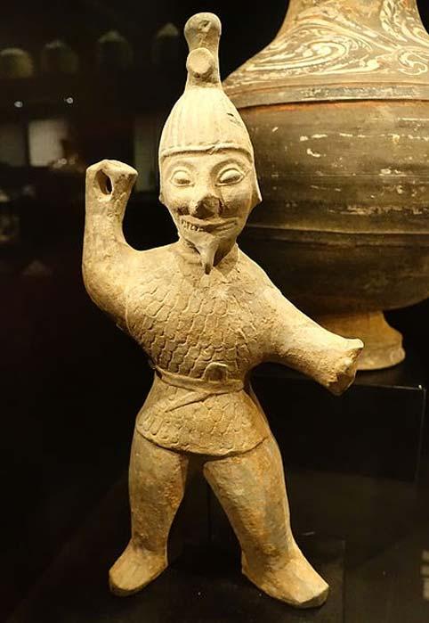 Tomb figurine of a Jin Dynasty warrior, earthenware - Östasiatiska museet, Stockholm. (CC0)