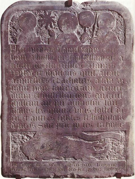 Tombstone of Nicolas Flamel. (CSvBibra / Public Domain)