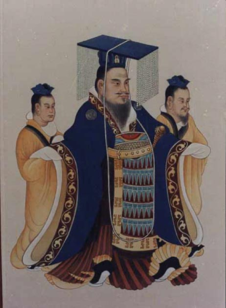 Traditional portrait of Emperor Wu of Han from an ancient Chinese book. (Public Domain)