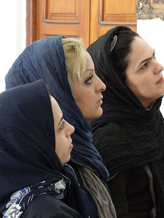 Trio of Women at Zoroastrian Fire Temple - Yazd - Central Iran