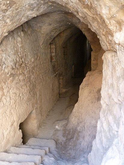 Tunnel inside Masyaf Castle