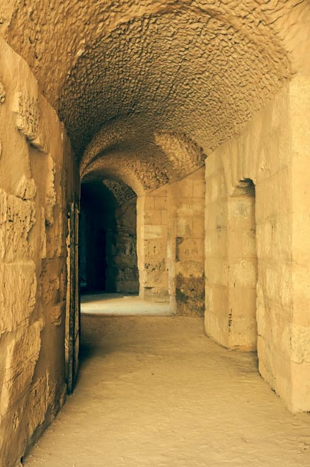 Tunnel leading into the main arena at El Djem.