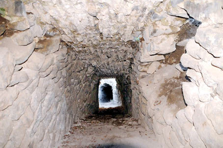 Tunnel unearthed in Tokat Castle