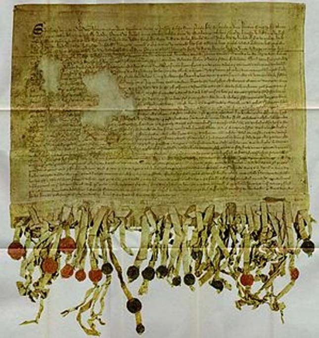 The Tyninghame Copy of the Declaration of Arbroath (1320). (Public Domain)