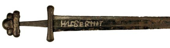 "A 10th-century double-edged sword inscribed with the name ""Ulfberht"""