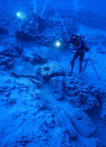 The wreck site - Uluburun