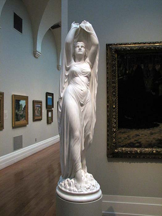 Undine Rising from the Waters, ca. 1880–1882, by Chauncey Bradley