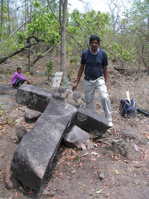 Unique stone megalith, India.