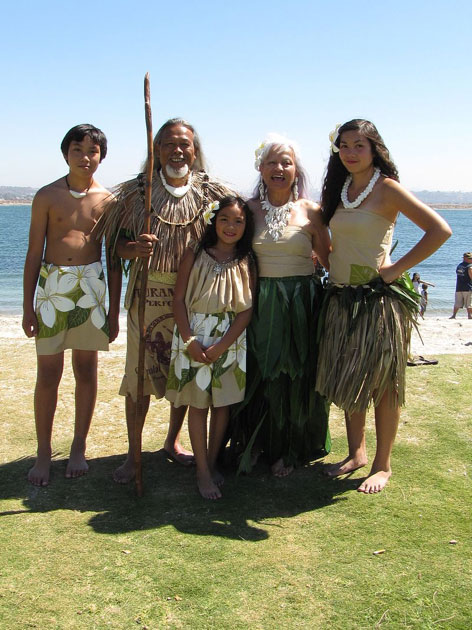 Chamorro People with some traditional dress. (CC BY 2.0)
