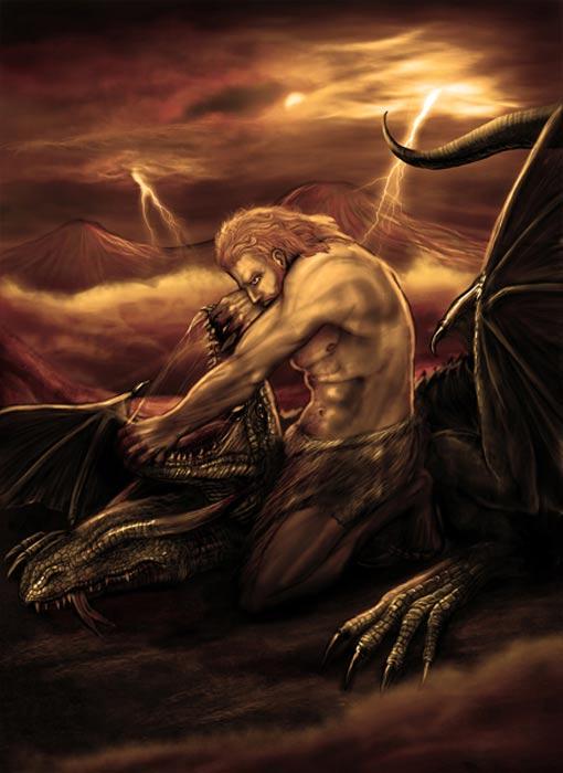 Vahagn, the Armenian fire god.