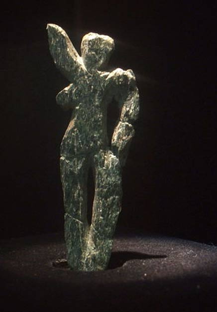 Venus of Galgenberg - made of green serpentine 30,000 years ago.