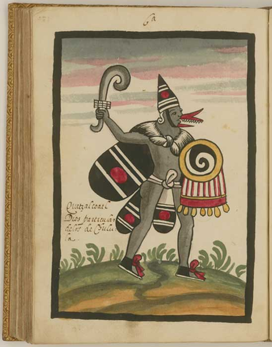 Very early drawing of Quetzelcoatl (Author provided)