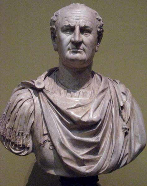 Vespasian. Plaster cast in Pushkin museum after original in Louvre.