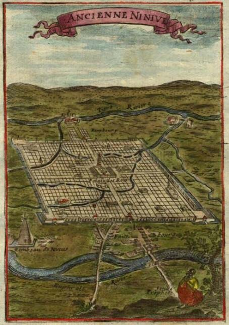View of ancient Nineveh, Description de L'Universe (Alain Manesson Mallet, 1719). (Public Domain)