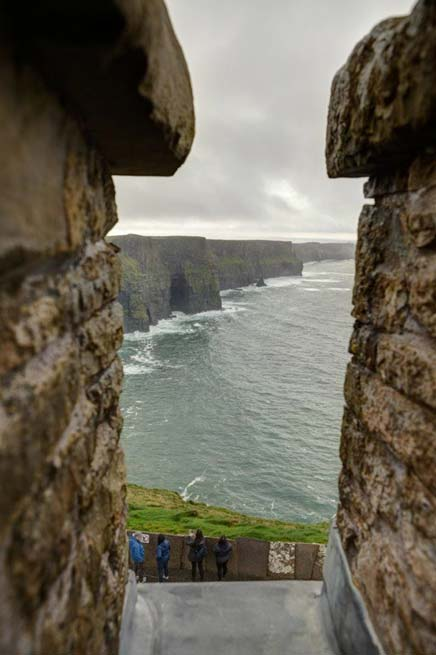 View out from O'Brien's Tower to the Cliffs of Moher. (Image credit: Ioannis Syrigos)