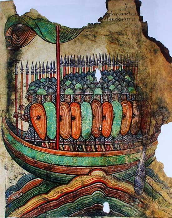 Viking attack, 1100.