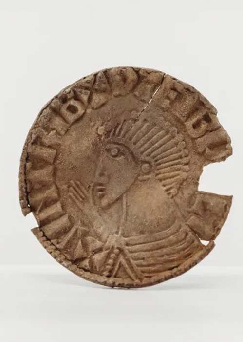 This Viking coin found on the Isle of Man depicts King Sihtric Silkbeard, the Norse King of Dublin circa 989-1036 (Manx National Heritage)