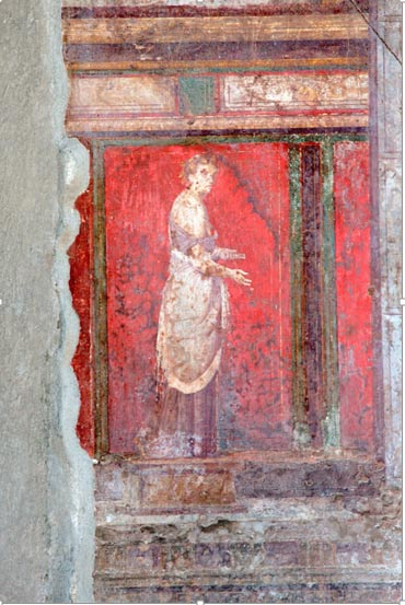 A fresco from the Villa of Mysteries in Pompeii, Italy