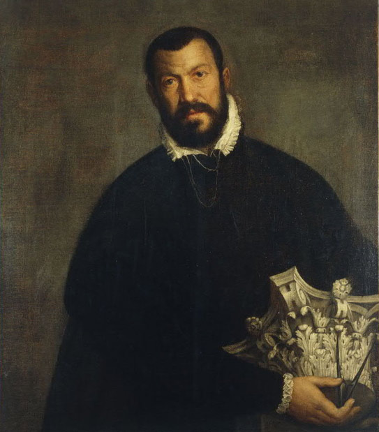 Portrait of architect Vincenzo Scamozzi by Paolo Veronese, dated mid 1500's. He took over the architecture of the Biblioteca Nazionale Marciana after the death of Sansovino.