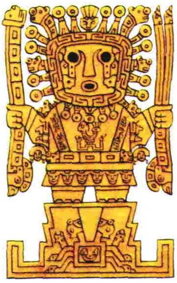 Viracocha, the creator god of the Incas.