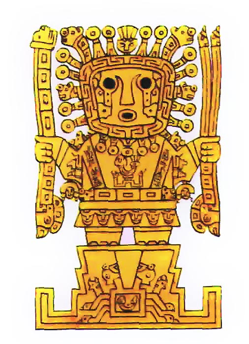 A depiction of Viracocha